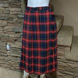 Dresses & Skirts - Vintage plaid kilt size 11/12